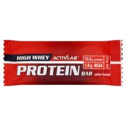 High Whey Protein Baton wysokobiałkowy z dodatkiem BCAA o smaku kawowym