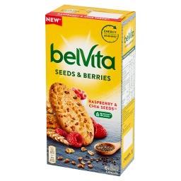Ciastka zbożowe z nasionami szałwii hiszpańskiej i m...