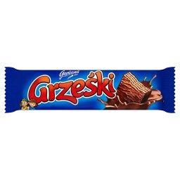 Wafel przekładany kremem kakaowym w czekoladzie