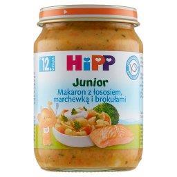 Makaron z łososiem marchewką i brokułami po 15. mies...