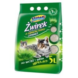 Żwirek bentonitowy o zapachu trawy dla kotów 5L