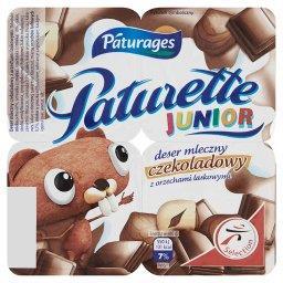 Paturette Junior Deser mleczny czekoladowy z orzechami laskowymi