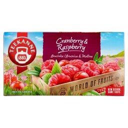 World of Fruits Cranberry & Raspberry Mieszanka herbatek owocowych 45 g
