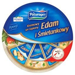 Kremowy ser topiony Edam i Śmietankowy
