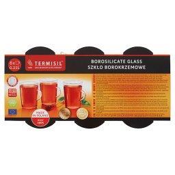 Komplet 6 żaroodpornych szklanek 0,22 l