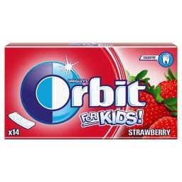 For Kids Strawberry Guma do żucia bez cukru  (14 pasków)