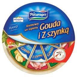 Kremowy ser topiony Gouda i z szynką