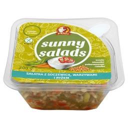 Sunny Salads Sałatka z soczewicą warzywami i ryżem