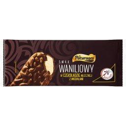 Lody smak waniliowy w czekoladzie mlecznej z migdałami
