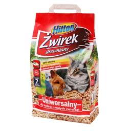 Żwirek drewniany uniwersalny dla kotów i małych zwierząt 7L