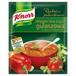 Rozkosze podniebienia Węgierska zupa gulaszowa z czerwoną papryką