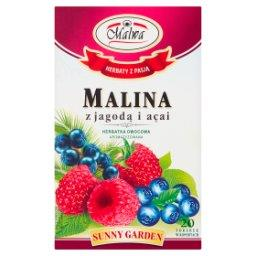 Sunny Garden Exclusive Malina z jagodą i açai Herbatka owocowa 40 g (20 torebek)