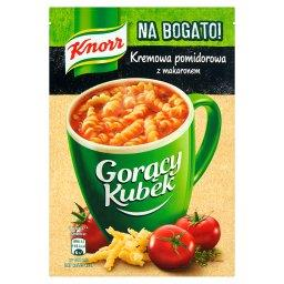 Gorący Kubek Na Bogato! Kremowa pomidorowa z makaronem