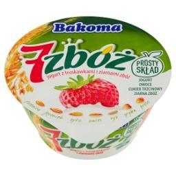 7 zbóż Jogurt z truskawkami i ziarnami zbóż