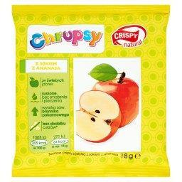 Chrupsy Suszone chipsy z jabłka z sokiem z ananasa