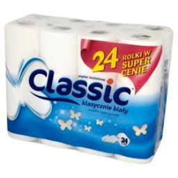 Klasycznie biały Papier toaletowy 24 rolki