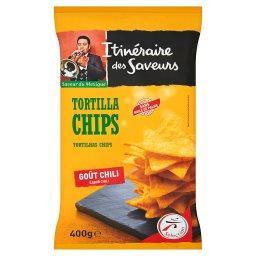 Chipsy kukurydziane Tortilla o smaku chili