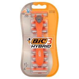3 Hybrid Dwuczęściowa maszynka do golenia i 6 wymiennych wkładów