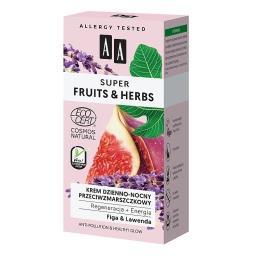 Super Fruits&Herbs krem dzienno-nocny przeciwzmarszczkowy regeneracja + energia NATURAL 50 ml