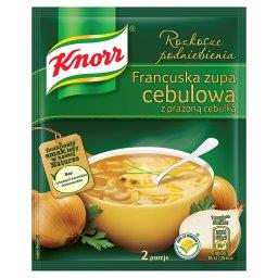 Rozkosze podniebienia Francuska zupa cebulowa z praż...