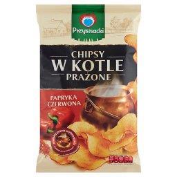 Chipsy w kotle prażone o smaku papryka czerwona