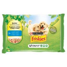 Vitafit Junior Karma dla psów z kurczakiem i groszkiem w galaretce 400 g