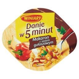 Danie w 5 minut Makaron z sosem gulaszowym