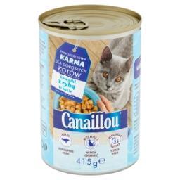 Pełnoporcjowa karma dla dorosłych kotów kawałki z rybą w sosie