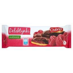 Delektynki malinowe Biszkopty z galaretką w czekoladzie