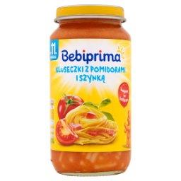 Kluseczki z pomidorami i szynką po 11. miesiącu