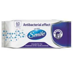Chusteczki o działaniu antybakteryjnym 60 sztuk