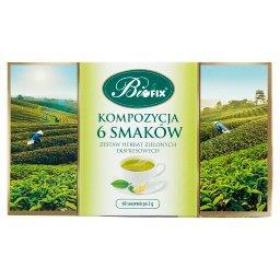 Zestaw herbat zielonych ekspresowych kompozycja 6 smaków 120 g (60 x )
