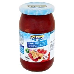 Filety śledziowe panierowane i smażone w sosie pomidorowym
