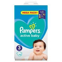 Active Baby Rozmiar 3, 152 pieluszki, 6-10 kg