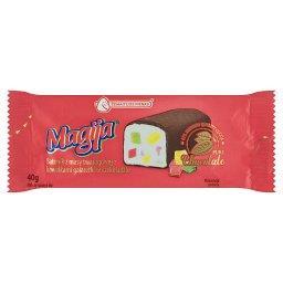Batonik z masy twarogowej z kawałkami galaretki w czekoladzie