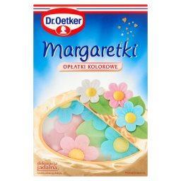 Margaretki opłatki kolorowe 15 sztuk