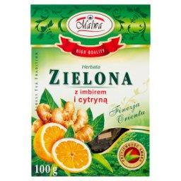 Herbata zielona z imbirem i cytryną