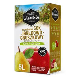 Sok jabłkowo-gruszkowy, naturalnie mętny, tłoczony n...
