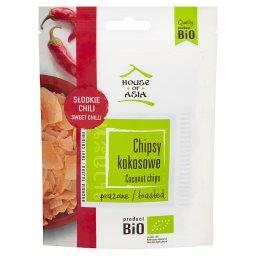 Bio chipsy kokosowe prażone słodkie chili