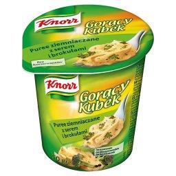 Gorący Kubek Puree ziemniaczane z serem i brokułami