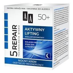 Technologia Wieku 5Repair 50+ Aktywny lifting nocny krem odżywczo-regenerujący 50 ml