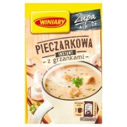 Zupa instant pieczarkowa z grzankami