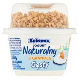 Jogurt naturalny gęsty z granolą