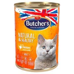 Natural&Healthy Karma dla dorosłych kotów kawałki w galaretce z kurczakiem