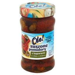 Suszone pomidory z kaparami w oleju z ziołami