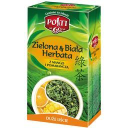 Herbata zielona&biała liściasta z mango i pomarańczą 100g