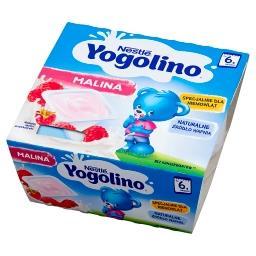 Yogolino Deserek mleczno-owocowy malina po 6 miesiącu 400 g (4 x )