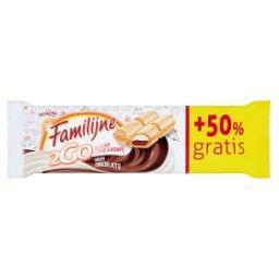 2Go Wafelek z nadzieniami o smaku czekoladowym i mlecznym