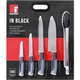 Conjunto de 4 facas + 1 pinça