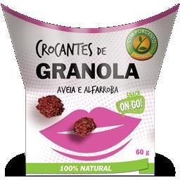 Crocantes de granola aveia e alfarroba